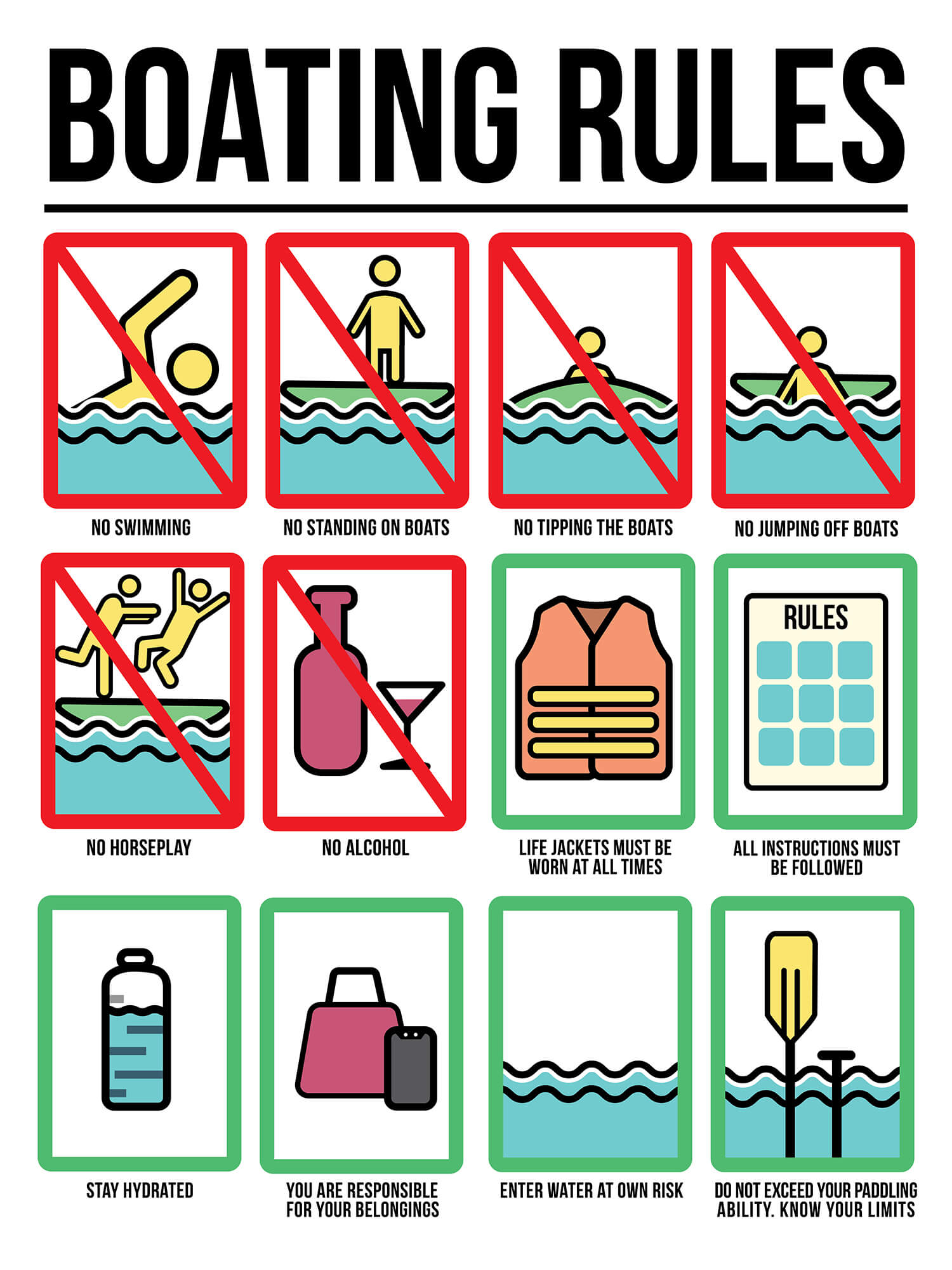 Boating Rules Sign
