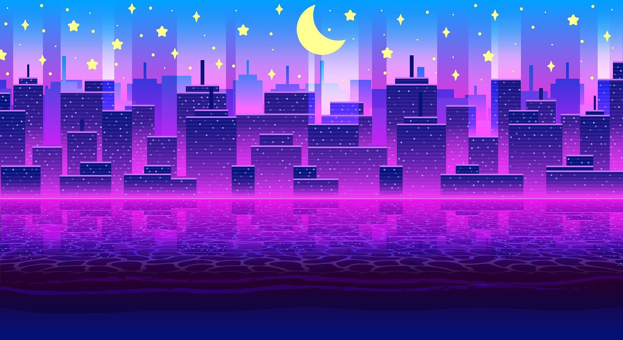 Summer City Landscape
